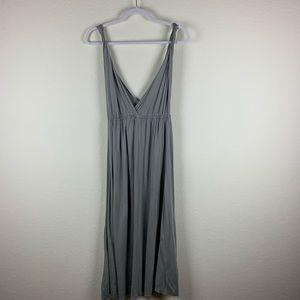 J.Crew | Gray Twisted Strap V Neck Dress S